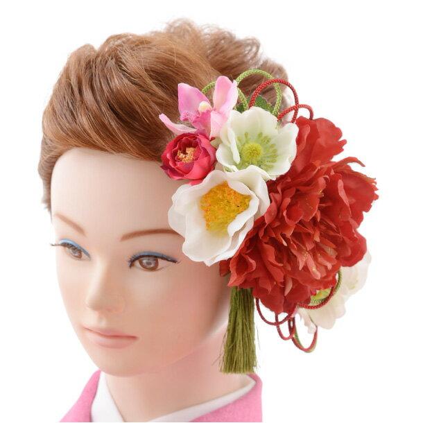 【着物 髪飾り】着物 髪飾り 花 和装用〔振袖 髪飾り 花〕振袖レンタルなどにおすすめの髪飾り1cj0108/結婚式用髪飾り【入学式 卒業式 結婚式】(10P03Dec16)