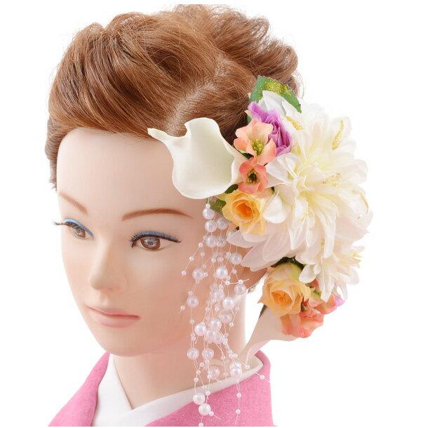 【着物 髪飾り】着物 髪飾り 花 和装用〔振袖 髪飾り 花〕 振袖レンタルなどにおすすめの髪飾り1cj0111/結婚式用髪飾り【入学式 卒業式 結婚式】(10P03Dec16)