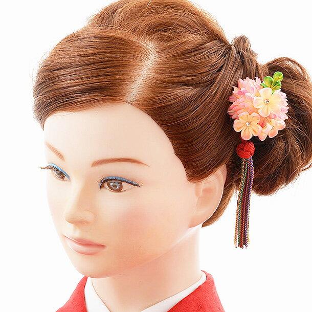七五三 子ども用 髪飾り 1CJ0156 ピンク ホワイト きみどり お花 タッセル 七五三着物 着物 和装 かんざし ヘアピン 七五三 正月 ヘアアクセサリー 子供用 子ども向け かわいい おでかけ お参り おしゃれ 女の子
