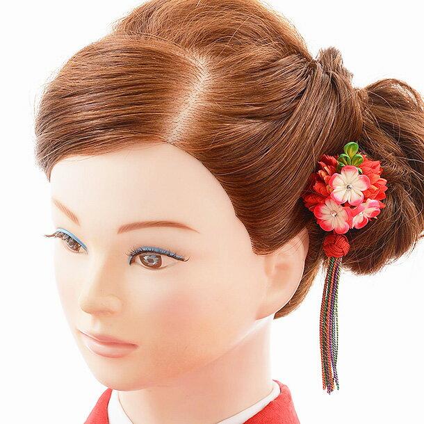 【着物 髪飾り】着物 髪飾り 花 和装用〔振袖 髪飾り 花〕振袖レンタルなどにおすすめの髪飾り 1cj0157 赤/結婚式用髪飾り【入学式 卒業式 結婚式】