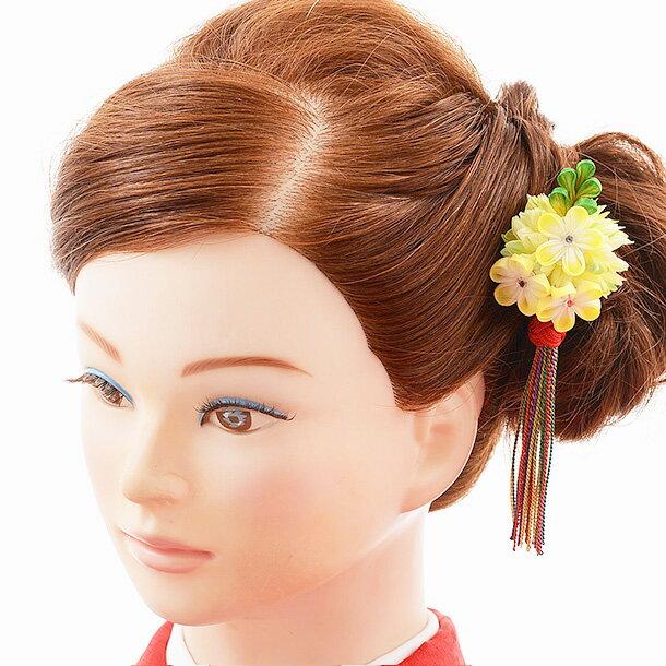 【着物 髪飾り】着物 髪飾り 花 和装用〔振袖 髪飾り 花〕振袖レンタルなどにおすすめの髪飾り 1cj0158 黄/結婚式用髪飾り【入学式 卒業式 結婚式】