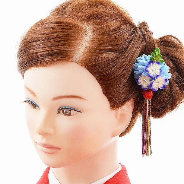 【着物 髪飾り】着物 髪飾り 花 和装用〔振袖 髪飾り 花〕振袖レンタルなどにおすすめの髪飾り 1cj0159 水色/結婚式用髪飾り【入学式 卒業式 結婚式】