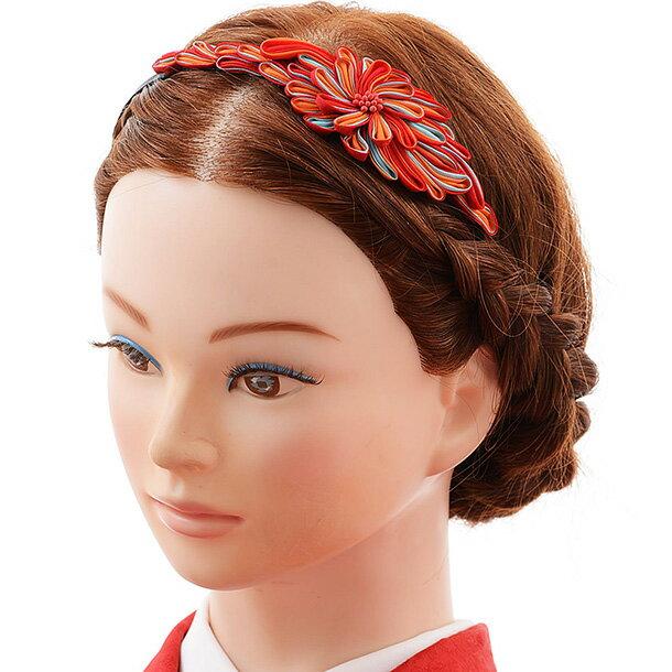 振袖 女袴 結婚式 和装 着物 髪飾り 1cj0174 赤 水色 朱色 ブルー レッド 古典 レトロ モダン クラシック 個性的 かわいい ヘアアクセ カチューシャ