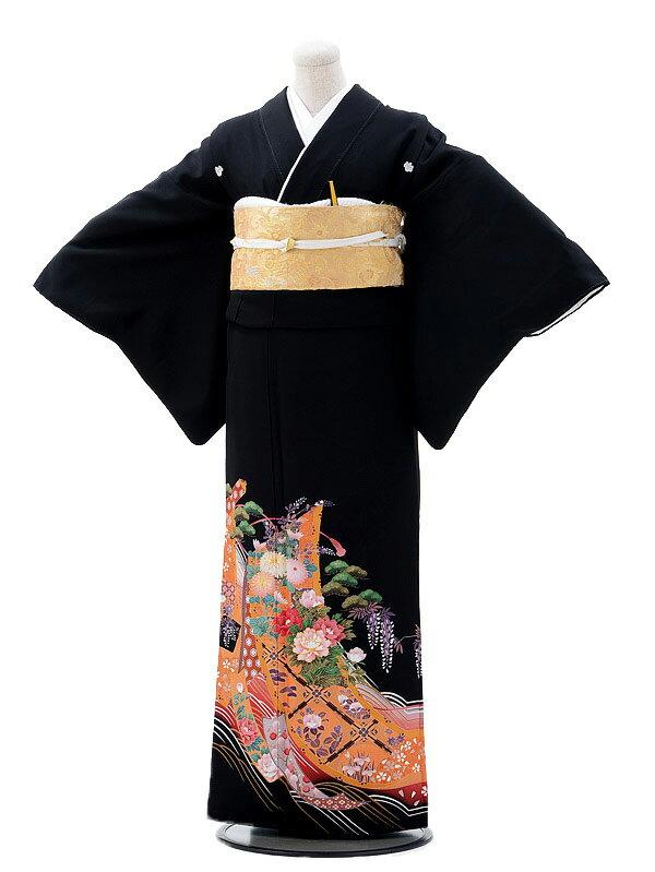 黒留袖レンタル 5-71 黒留袖レンタルfy16REN07【レンタル】