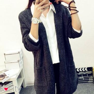 ざっくりニット ロング ニット カーディガン ロングカーディガン アウター レディース あったか ボレロ セーター ゆるニット 韓国 ファッション