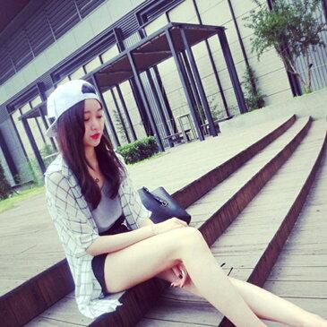 シフォン 薄手 シャツ レディース ブラウス トップス チェック柄 5分袖 オフィス 韓国 ファッション