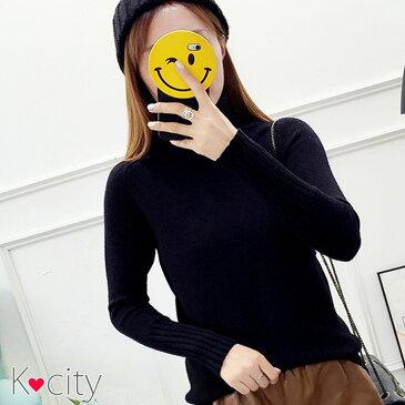 セーター ニット トップス タートルネック ハイネック 長袖 【秋冬】 韓国 ファッション