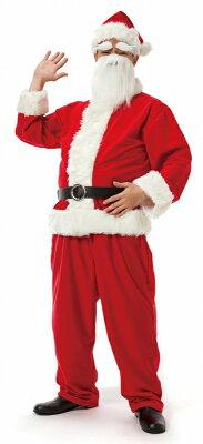【サンタ衣装メンズ】サンタクロースDXメンズ[サンタコスプレサンタコスチュームクリスマス衣装]【015602】