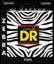 DR STRINGS【ZEBRA】エレアコ用ギターストリングス-3セット送料無料!-「ゲージをお選び下さい!」【受注生産品・ご予約受付中】