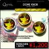 Q-Parts DOME KNOB ドーム・ノブ [Yellow Crystal] 1個《ご希望のカラーをお選びください》