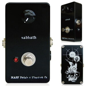 深く激しい歪み、そして音の速度が特徴的なFUZZMasf Pedals x Phantom FX / SABBATH《ファズ》...
