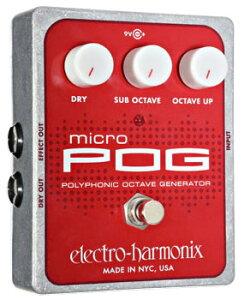 【エフェクター/オクターバー】《エレクトロハーモニクス》Electro Harmonix Micro POG 《エフ...