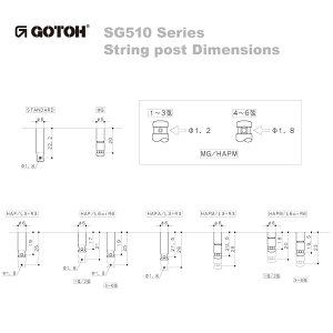 Gotoh/ゴトーSG510SeriesforStandardPostSGS510(Gold/L5)[対応ヘッド:L3+R3]《ギターペグ6個set》【送料無料】