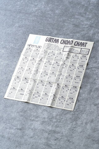 Nine music CL202 YLW(イエロー) -Microfiber Guitar Clothes/Guitar Chord Chart- 《マイクロファイバークロス》