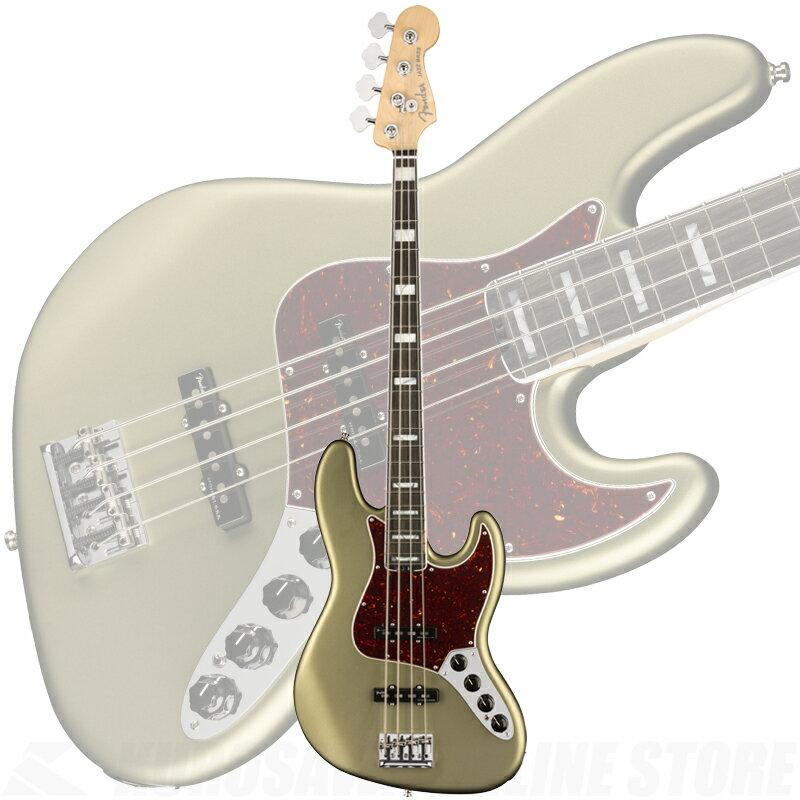 ベース, エレキベース Fender American Elite Jazz Bass, Ebony Fingerboard, Satin Jade Pearl Metallic