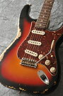 "FenderUSACustomShopTeamBuiltCustom1959StratocasterHeavyRelic""KurosawaCustomOrder""R77477(3-ColorSunburst)������̵����"