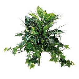 【人工観葉植物】 ゼブラMIXブッシュ 50cm 【フェイクグリーン 観葉植物 造花 光触媒 CT触媒 インテリア】