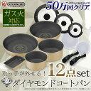 【限定価格】フライパン 12点セット GS-SE12ダイヤモ...