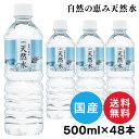 【48本セット】天然水 500ml 水 LDC 自然の恵み天然水 非加熱 ミネラルウォーター 災害対...