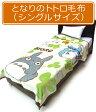 【メール便不可】■スタジオジブリ・となりのトトロ・アクリル毛布(シングルサイズ・ほがらか)■☆キャラクター毛布☆大人でも使えるシングルサイズ・アクリル毛布