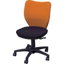 アイリスチトセ オフィスチェア ミドルバックタイプ オレンジ・ブラック BITBX45L0FOGBK
