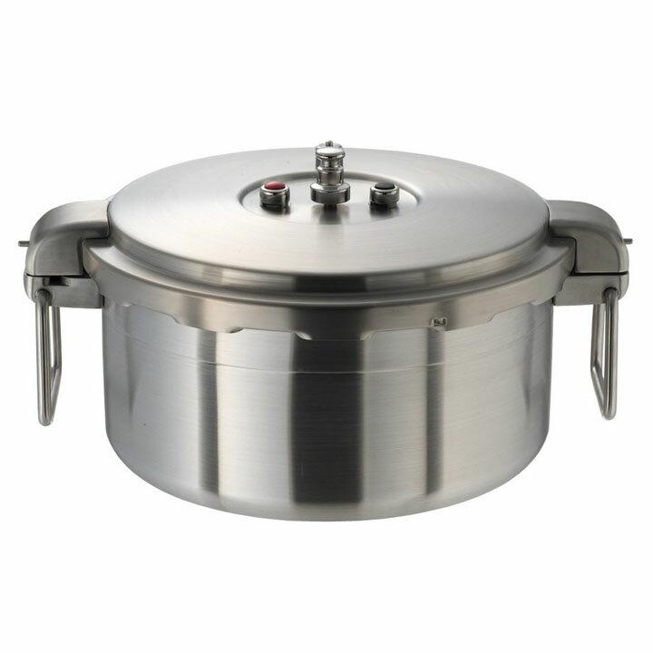 プロビッグ業務用圧力鍋浅型16L NPDA16圧力鍋 IH対応 両手鍋 16L ワンダーシェフ 【TD】 【代引不可】:調理器具専門店 i-cook