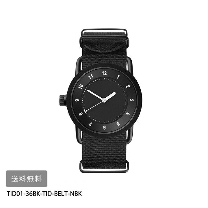 腕時計, 男女兼用腕時計 TID Watches No.1 36mmBKTID01-36BK-TID-BELT-NB K