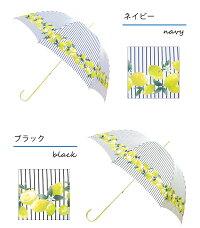 晴雨兼用傘レモンストライプかわいいレディース全3色