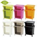 くらしのラララ日本製プラスチック ラックリビング キッチン バスルーム玄関 VOGAグリーン/...