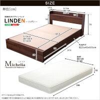 【送料無料】【ベッド】収納付きデザインベッド【リンデン-LINDEN-(シングル)】(ロール梱包のボンネルコイルマットレス付き)