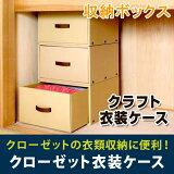 【収納ボックス】クローゼット衣装ケース