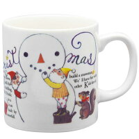 クリスマス パーティグッズ プレート 日常使いにも/ アルモニーノエル マグカップ スノーマン /インテリアにも かわいい プレゼント 贈り物