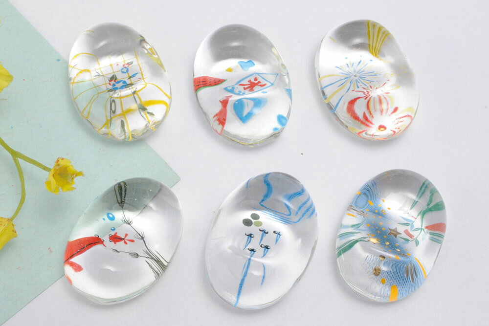 ガラスの箸置き 6種類★