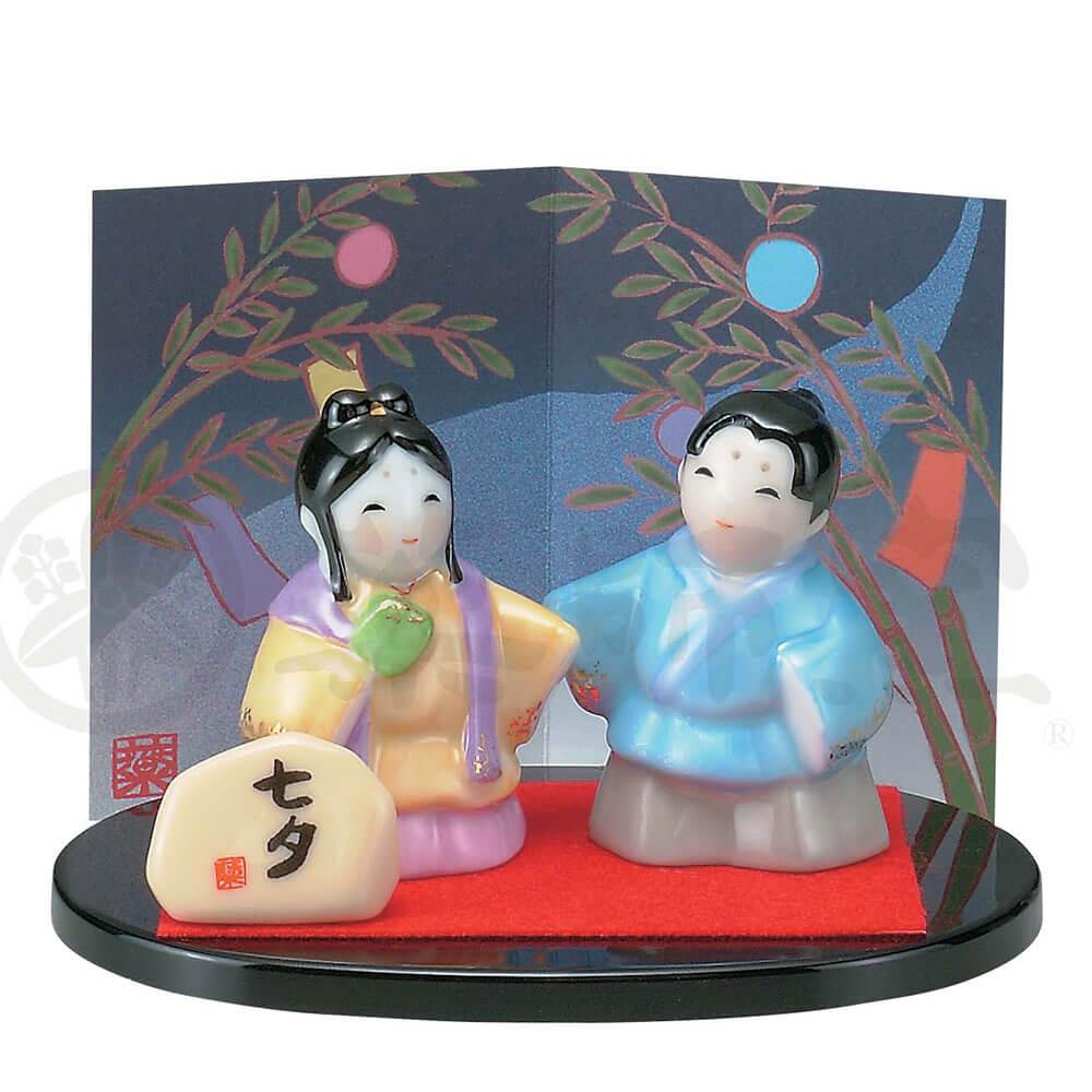 彦星 織り姫 季節感/ 彩絵七夕 /インテリア 置物 プレゼント 贈り物