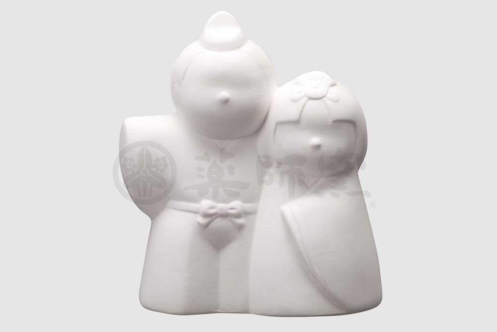陶器 キット/ お絵かき雛人形(貯金箱) /夏休み工作 自由研究 お店のマスコット自作