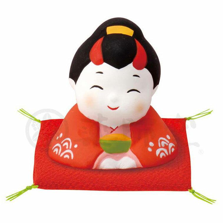 縁起 おもてなし 商売繁盛/ 錦彩お多福(ざぶとん付) /インテリア 置物 プレゼント 贈り物