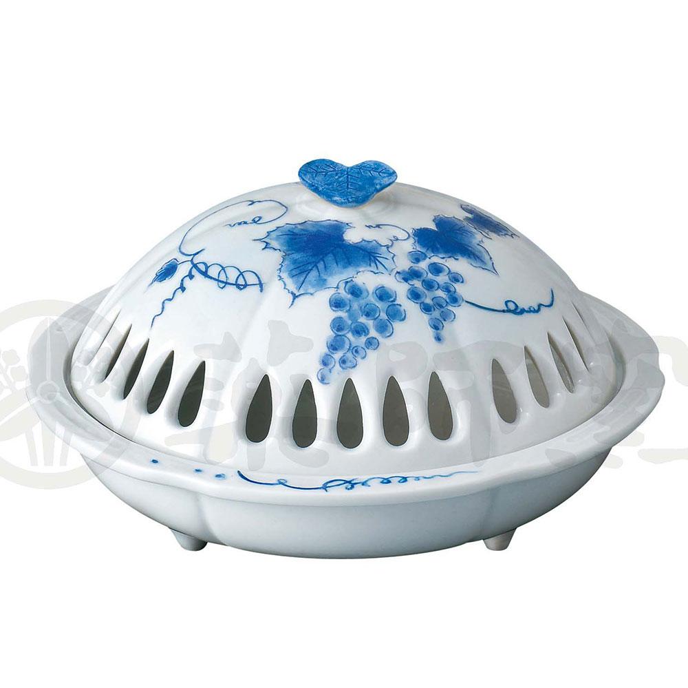 蚊取り線香入れ おしゃれ 陶器 蚊取り線香ホルダー アウトドア/ 香炉風葡萄蚊遣器 /キャンプ 屋外 和風