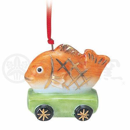 クリスマス 飾り インテリア/ 彩絵ツリーオーナメント(鯛車) /かわいい プレゼント 贈り物