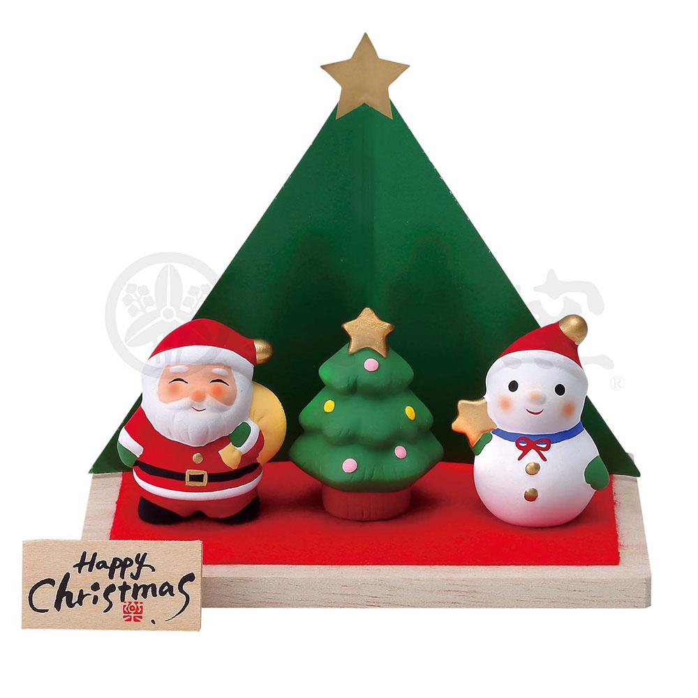 クリスマス 飾り インテリア/ 錦彩クリスマス飾り(サンタとスノーマン) /かわいい プレゼント 贈り物