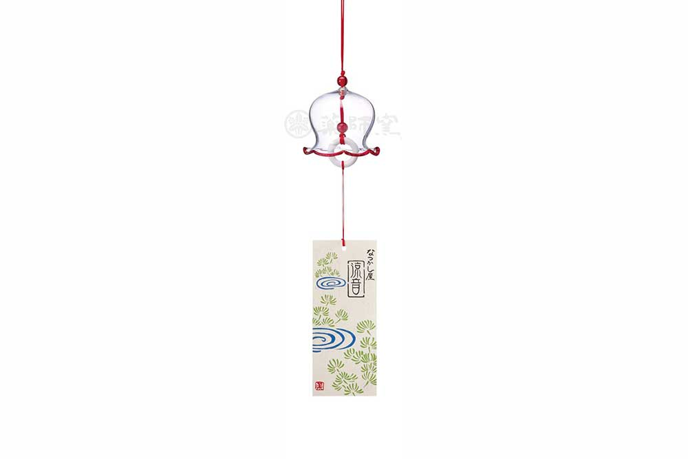 風鈴 ガラス/ ビードロ風鈴(赤) /祭り 縁日 クールビズ
