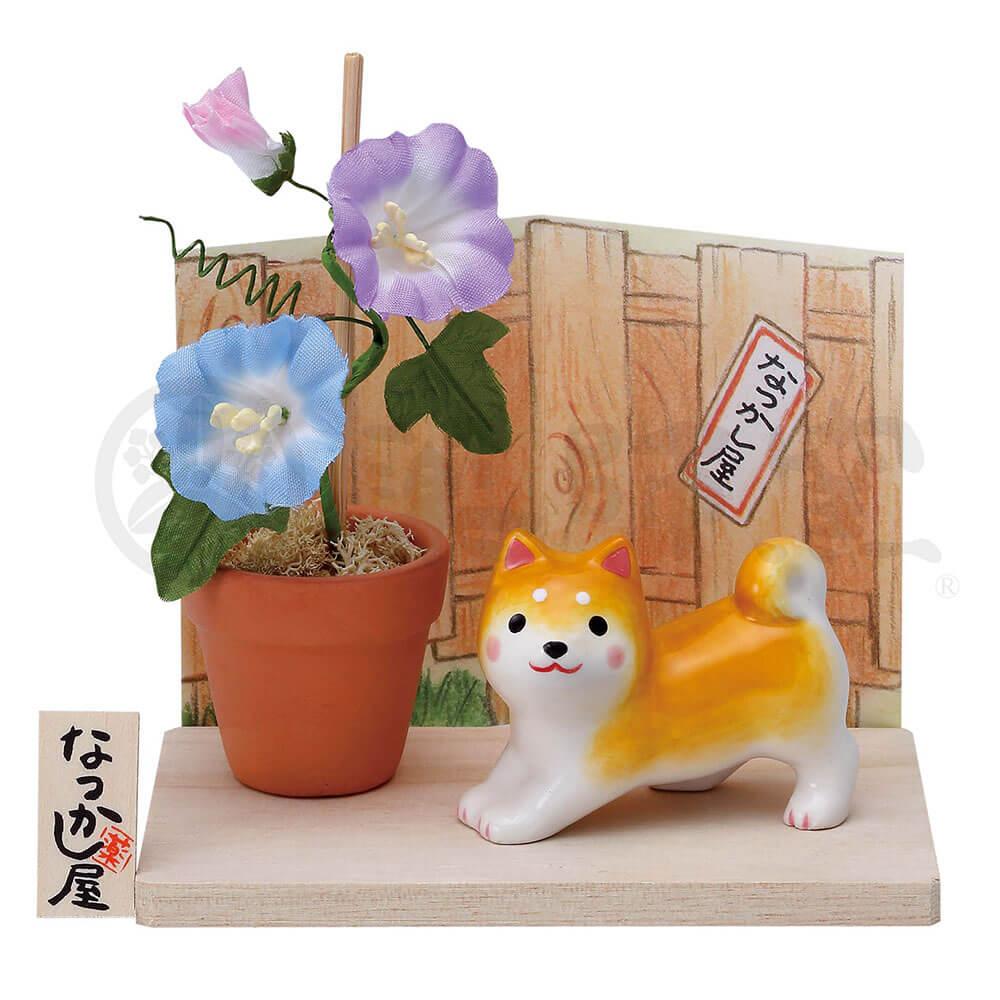 犬グッズ 可愛い 柴犬/ わんこ日和 柴犬(朝顔) /インテリア 置物 プレゼント 贈り物