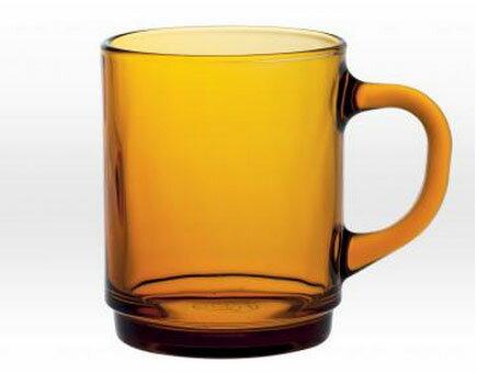 コーヒー カップ ホット 強化/ デュラレックス DURALEX ベルサイユスタックマグ アンバー /業務用 家庭用 おしゃれ 食洗機 レンジ 熱湯 OK