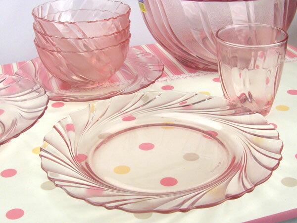 熱湯 レンジ 食洗機OK デュラレックス ボー・リバージュ プレート23.5cm ガラス 皿 DURALEX
