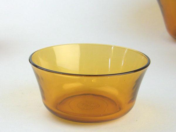 熱湯 レンジ 食洗機OK デュラレックスdx2000ニセンボウル アンバー 10.5cm ガラス DURALEX