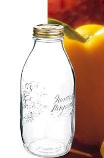 保存容器 ボトル びん 瓶/ QS 保存瓶 1000cc<トール> /手造りジャム 手造り調味料 ガラス瓶 はちみつ容器 果実酒 エッグスラット 密封 化粧品容器 角びん