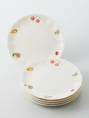 ニューボン ケーキ皿セット(花形) フルーツ