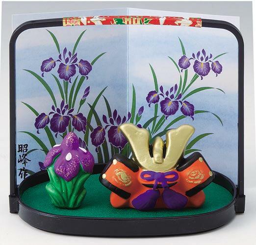 五月人形 コンパクト 陶器 小さい 兜 かぶと/ ミニ兜飾り /こどもの日 端午の節句 初夏 お祝い 贈り物 プレゼント