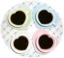 幸せを感じることのできるプレゼントにも最適♪4色のハートのコーヒーカップ☆ ペア