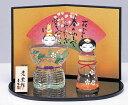 【ひな人形 ひな祭り】 彩絵玻璃立雛(松竹梅)