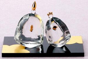 雛人形 コンパクト ガラス 小さい 可愛い ひな人形/ 硝子よりそい雛 /ミニチュア 初節句 お雛様 おひな様 雛飾り